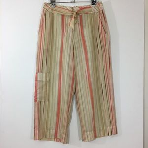 Tommy Hilfiger Silk Wide Leg Cropped Pants